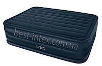 Двуспальная надувная кровать Intex 66718 (152х203х56 см. ) + встроенный насос 220V