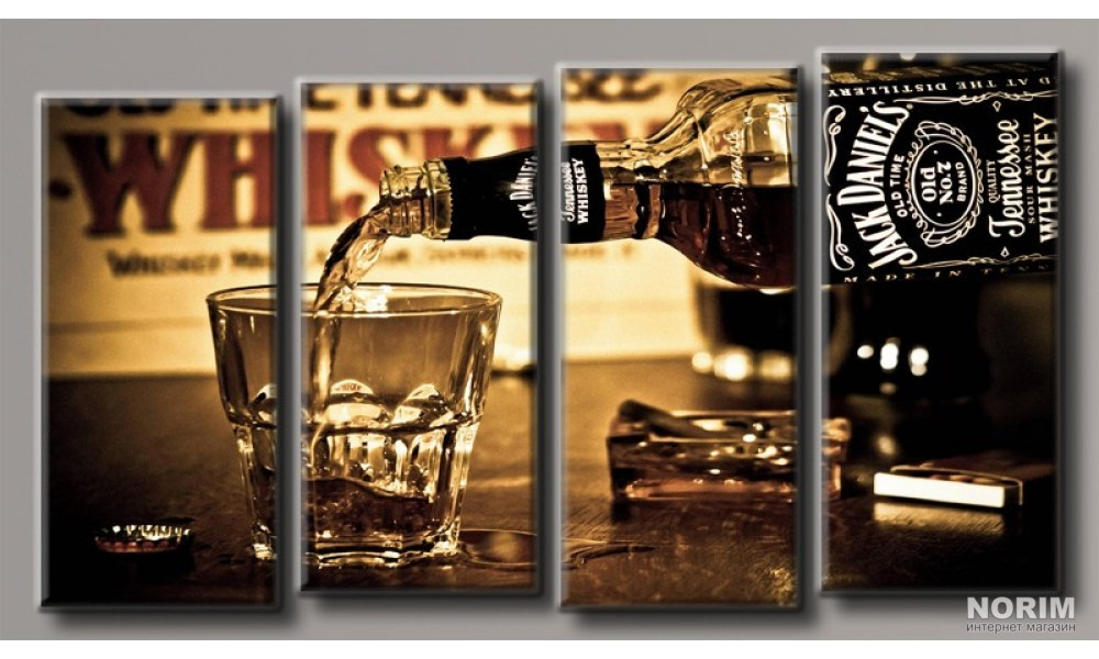 Модульная картина на холсте Jack Daniel's (HAF-142) Уценка