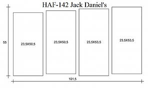 Модульная картина на холсте Jack Daniel's (HAF-142)