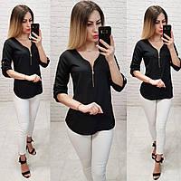 Блузка 158. арт 158  черная / черный / черного цвета