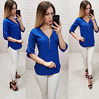 Блузка 158 Ткань: арт 158  електрик / ярко синий, фото 1