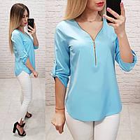 Блузка 158 Ткань: арт 158 голубая / голубой / голубого цвета