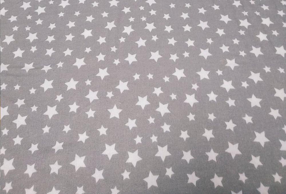 Фланель Звездочки на сером, 240 см