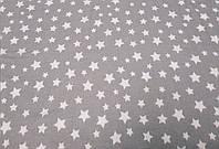 Фланель Звездочки на сером, 240 см, фото 1
