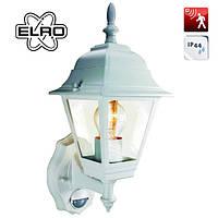 Садово-парковый настенный ретро-светильник с датчиком движения и освещенности Elro Laterne белый