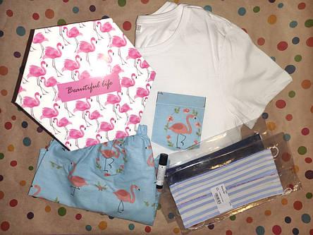 Подарунковий жіночий набір з піжамою і приємностями в коробці №4, фото 2