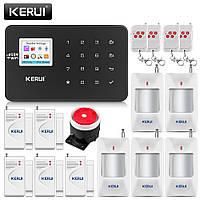 Охранная сигнализация комплект KERUI W18 домашняя система безопасности 5+5 датчиков поддержка Wi-Fi  GSM