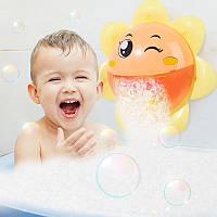 Игрушка для купания в ванной музыкальная Подсолнух Цветочек