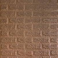 Декоративная 3Д-панель стеновая Коричневый Кирпич (самоклеющиеся 3d панели для стен оригинал) 700x770x7 мм