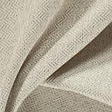 Ткань для обивки мебели рогожка Кафе Лунго (Cafe Lungo) молочного цвета, фото 3