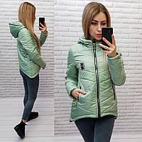 Куртка парка арт. 210/7 цвет светло зеленый / шалфей / светло зеленого цвета