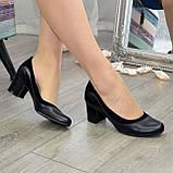 Женские классические туфли на невысоком устойчивом каблуке, натуральные кожа и замша, фото 4