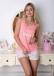 Пижама с цветочным принтом майка+шорты.