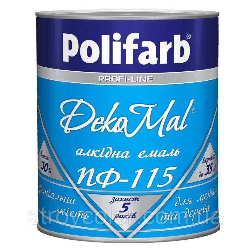 Эмаль алкидная ПФ-115 Белая DekoMal Polifarb 0,9 кг. (Краска, полифарб)