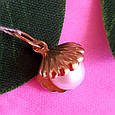 Золотой кулон с жемчугом Ракушка - Подвеска Ракушка с натуральной жемчужиной, фото 3