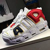 Баскетбольні кросівки Nike Air More Uptempo, White. Розмір 45