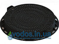 Люк Л-60.80.10-ПП садовый круглый пластиковый черный «ЛОГО» 35188-80Л