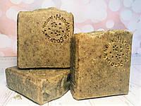 """Мыло-скраб ручной работы с маслом Ши """"Мята и мелисса"""". Органическое мыло с нуля холодным способом."""