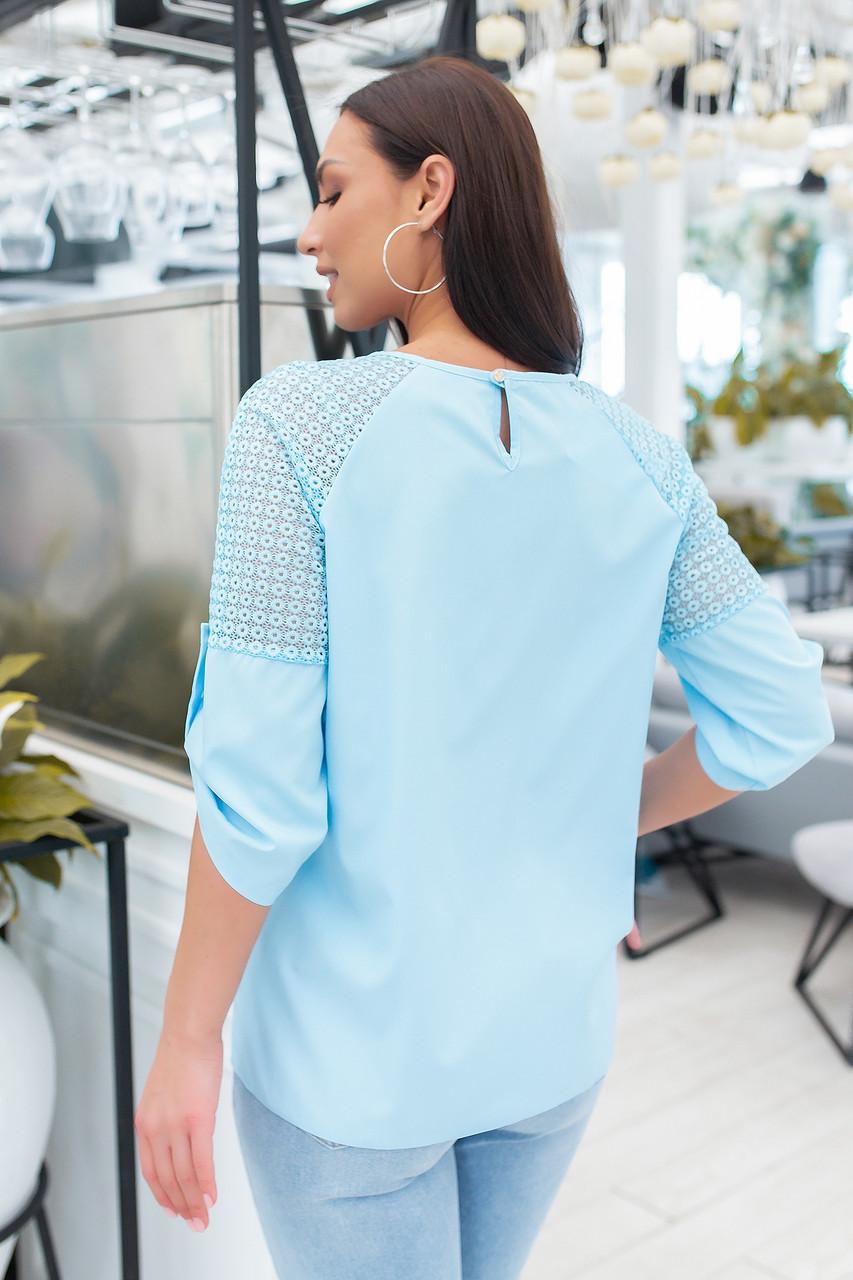 Блуза арт. 117/2 голубая светлая / светло - голубой / светло-голубого цвета