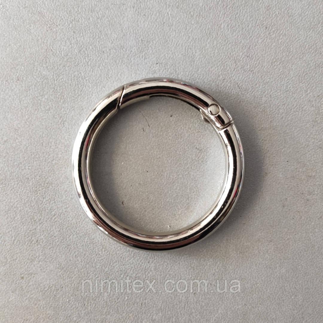 Кільце-карабін 31 мм нікель