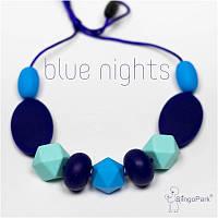 Силиконовые слингобусы BABY MILK TEETH Blue Nights