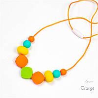Силиконовые слингобусы BABY MILK TEETH Orange