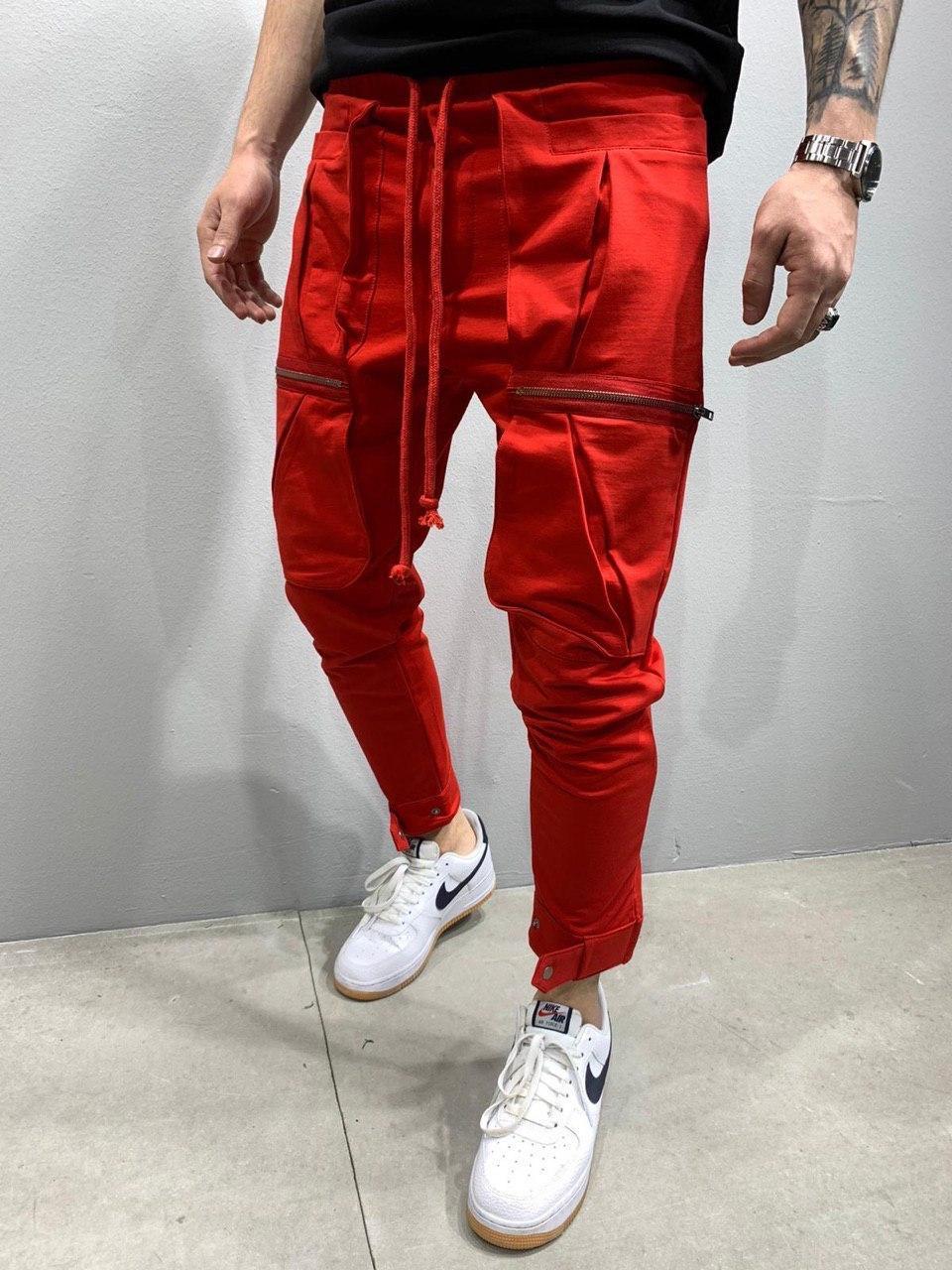 Мужские спортивные штаны 2Y Premium 5151 красные