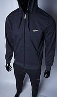 Кофта на молнии трикотажная мужская Nike 754296_1 серая в стиле бренда