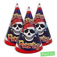 """Колпачки праздничные, маленькие """" Пираты """", 5 шт/уп"""