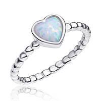 """Серебряное кольцо с опалом Сердце """"1360"""""""