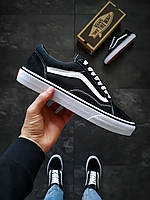 Ванс Олд Скул Блек Мужские кроссовки черного цвета Vans Old Skool Black. Мужские кеды Ванс