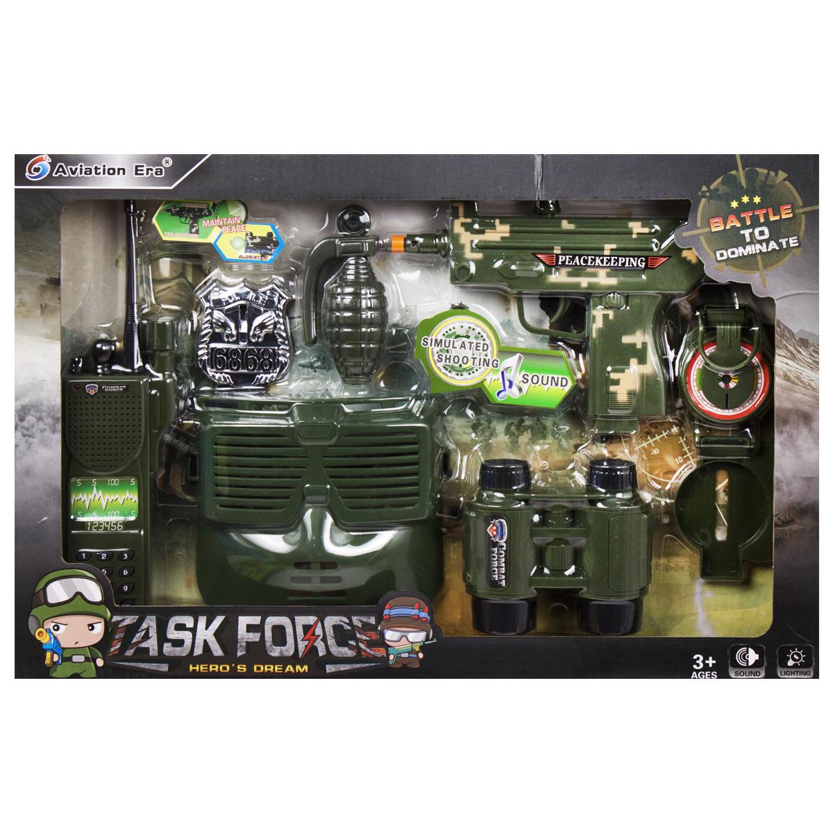 Детский военный набор оружия с маской