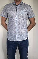 Чоловіча сорочка ANG світлого кольору ,приталена, молодіжна. Турція