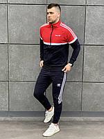 Спортивный костюм Adidas x red-black / мужской весенний летний ЛЮКС качества