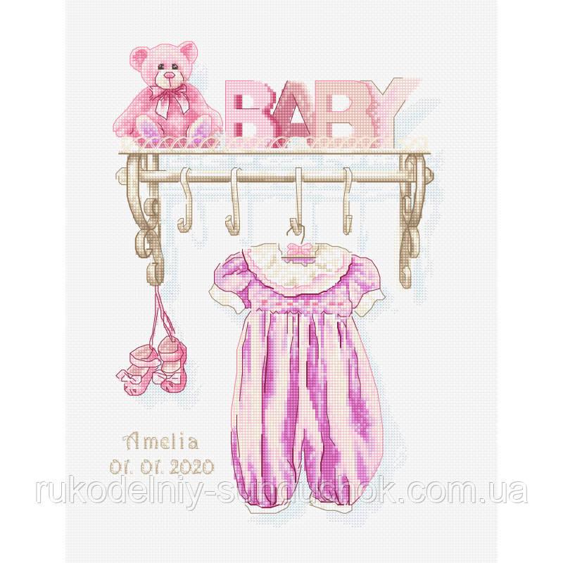 """Набор для вышивания крестом """"Luca-s"""" B1175 Рождение девочки"""