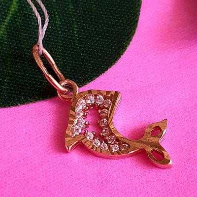 Золотой кулон Дельфинчик - Кулон Дельфин золото