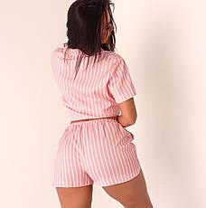 Пижама женская NZY Лен S / M Pink Line Розовая (LN129305), фото 3