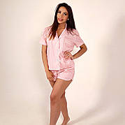 Пижама женская NZY Лен S / M Pink Line Розовая (LN129305)