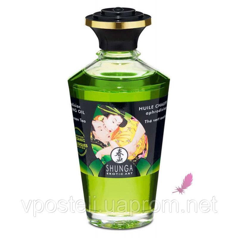 Согревающее масло для оральных ласк Shunga Aphrodisiac Зеленый чай