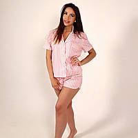 Піжама жіноча NZY Льон M/L Pink Line Рожева (LN129306)