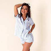 Пижама женская NZY Лен S / M Blue Line Голубая (LN129307)