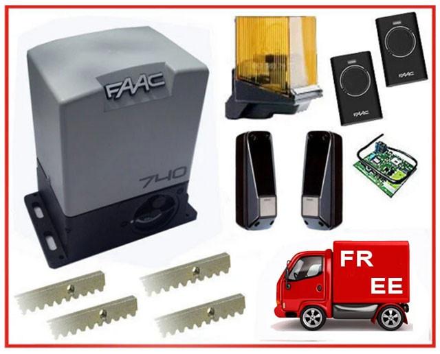 FAAC-740. Комплект автоматики для откатных ворот до 500 кг.