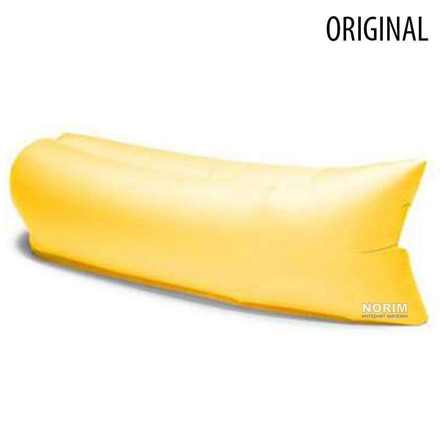 Ламзак, надувной матрас LAMZAK. Желтый (Поврежден)