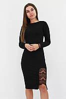 Красивое черное платье с кружевом женское Размер 42 44 46 48 50 Женские модные платья осень
