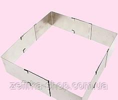 Форма раздвижная прямоугольная 10- 18 см, высота 5 см