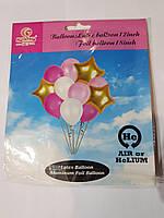 Набор из латексных и фольгированных воздушных шариков 11шт