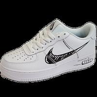 Кроссовки женские белые Nike Air Force 1 LowWhite/Black Найк Аир Форс 1 /Жіночі кросівки Найк Форс 1 Білі 40