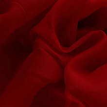 Шифон (вуаль) для штор трехметровый красный