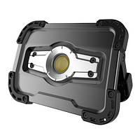 Прожектор світлодіодний акумуляторний 10W з POWERBANK 5000 mAh (вихід USB 5V), IP65 GIKRAFT (FL-1002W)