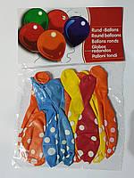 Воздушные шарики горошек 10 шт